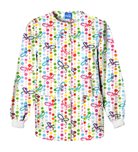 Scrub HQ Snap Front Warm-Up Jacket Butterfly Dots (4350-BUDO)