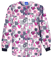 Cherokee Prints Snap Front Warm-Up Jacket (4350-WRDS) (4350-WRDS)