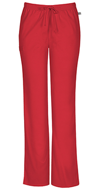 Mid Rise Moderate Flare Drawstring Pant (44101AT-REDW)