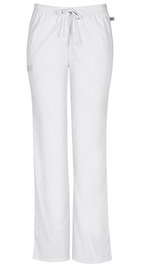 Mid Rise Moderate Flare Drawstring Pant (44101AT-WHTW)
