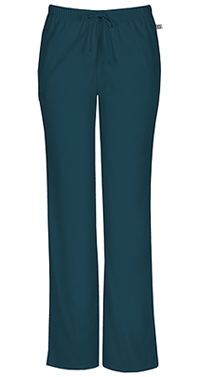 Cherokee Workwear Mid Rise Moderate Flare Drawstring Pant Caribbean Blue (44101A-CARW)