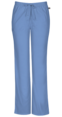 Cherokee Workwear Mid Rise Moderate Flare Drawstring Pant Ciel (44101A-CIEW)