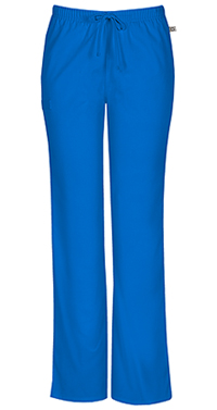 Cherokee Workwear Mid Rise Moderate Flare Drawstring Pant Royal (44101A-ROYW)