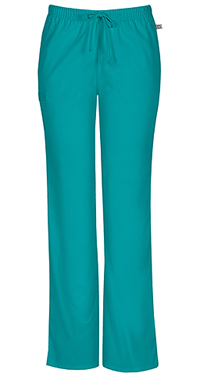 Cherokee Workwear Mid Rise Moderate Flare Drawstring Pant Teal Blue (44101A-TLBW)
