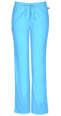 Cherokee Workwear Mid Rise Moderate Flare Drawstring Pant Turquoise (44101A-TRQW)