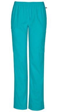 Mid Rise Straight Leg Elastic Waist Pant (44200AP-TLBW)
