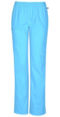 Mid Rise Straight Leg Elastic Waist Pant (44200AP-TRQW)