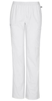 Mid Rise Straight Leg Elastic Waist Pant (44200AP-WHTW)