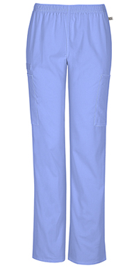 Mid Rise Straight Leg Elastic Waist Pant (44200AT-CIEW)
