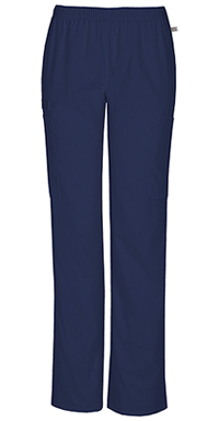 Mid Rise Straight Leg Elastic Waist Pant (44200AT-NAVW)