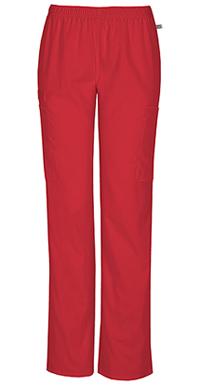 Mid Rise Straight Leg Elastic Waist Pant (44200AT-REDW)