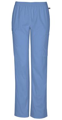 Cherokee Workwear Mid Rise Straight Leg Elastic Waist Pant Ciel (44200A-CIEW)