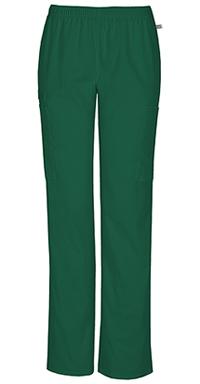 Mid Rise Straight Leg Elastic Waist Pant (44200A-HUNW)