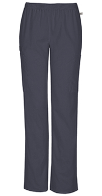 Cherokee Workwear Mid Rise Straight Leg Elastic Waist Pant Pewter (44200A-PWTW)