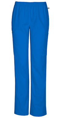 Cherokee Workwear Mid Rise Straight Leg Elastic Waist Pant Royal (44200A-ROYW)