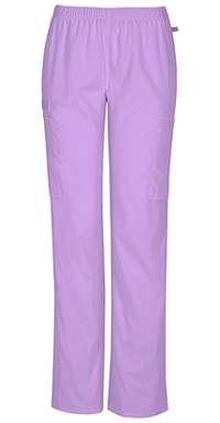Cherokee Workwear Mid Rise Straight Leg Elastic Waist Pant Vibrant Orchid (44200A-VBOW)