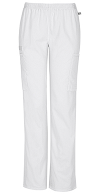 Mid Rise Straight Leg Elastic Waist Pant (44200A-WHTW)