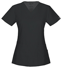 Cherokee Workwear V-Neck Top Black (44700A-BLKW)