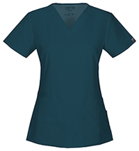 Cherokee Workwear V-Neck Top Caribbean Blue (44700A-CARW)