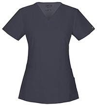 Cherokee Workwear V-Neck Top Pewter (44700A-PWTW)