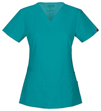 Cherokee Workwear V-Neck Top Teal Blue (44700A-TLBW)