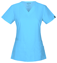 Cherokee Workwear V-Neck Top Turquoise (44700A-TRQW)