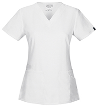 Cherokee Workwear V-Neck Top White (44700A-WHTW)