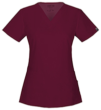 Cherokee Workwear V-Neck Top Wine (44700A-WINW)