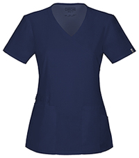 Cherokee Workwear Mock Wrap Top Navy (44801A-NAVW)