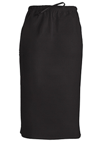 Cherokee Workwear 30 Drawstring Skirt Black (4509-BLKW)