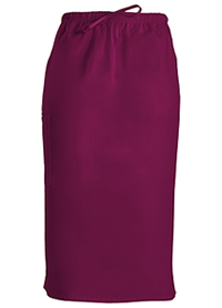 Cherokee Workwear 30 Drawstring Skirt Wine (4509-WINW)