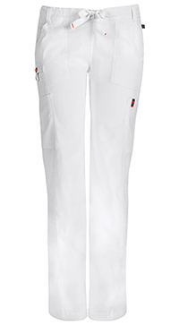 Low Rise Straight Leg Drawstring Pant (46000ABP-WHCH)