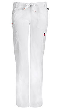 Low Rise Straight Leg Drawstring Pant (46000AT-WHCH)