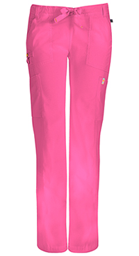 Code Happy Low Rise Straight Leg Drawstring Pant Shocking Pink (46000A-SHCH)