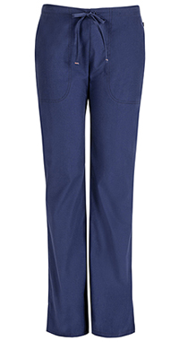 Code Happy Mid Rise Moderate Flare Drawstring Pant Navy (46002AB-NVCH)