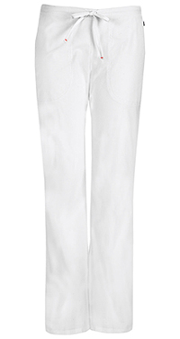 Code Happy Mid Rise Moderate Flare Drawstring Pant White (46002AB-WHCH)