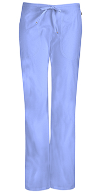 Code Happy Mid Rise Moderate Flare Drawstring Pant Ciel (46002A-CLCH)