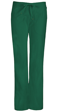 Code Happy Mid Rise Moderate Flare Drawstring Pant Hunter Green (46002A-HNCH)