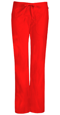 Code Happy Mid Rise Moderate Flare Drawstring Pant Red (46002A-RECH)