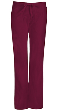 Code Happy Mid Rise Moderate Flare Drawstring Pant Wine (46002A-WICH)