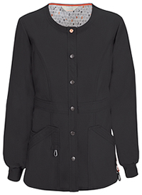 Snap Front Warm-up Jacket Black (46300AB-BXCH)