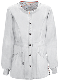 Code Happy Snap Front Warm-up Jacket White (46300AB-WHCH)