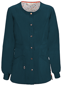 Code Happy Snap Front Warm-up Jacket Caribbean Blue (46300A-CACH)