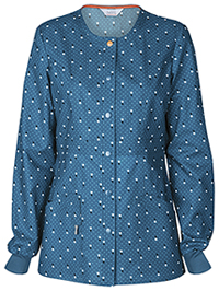 Code Happy Snap Front Warm-up Jacket You've Dot This Caribbean (46302CA-YOCA)