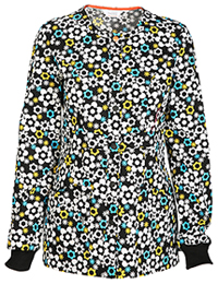 Code Happy Snap Front Warm-up Jacket It's Flower Never (46303A-ITFW)