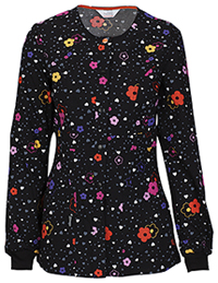 Code Happy Snap Front Warm-up Jacket More Flower To You (46303A-MRFW)