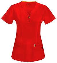 Code Happy V-Neck Top Red (46600A-RECH)