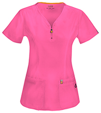 Code Happy V-Neck Top Shocking Pink (46600A-SHCH)