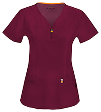 Code Happy V-Neck Top Wine (46600A-WICH)