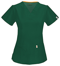 V-Neck Top Hunter Green (46607A-HNCH)